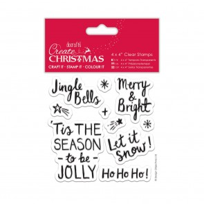 "4 x 4"" Clear Stamps - Contemporary Sentiments"