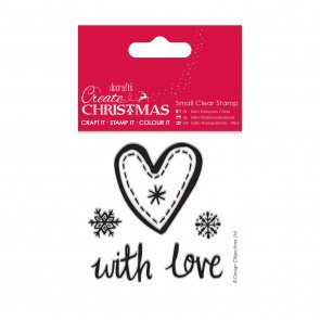 Small Clear Stamps - Christmas Heart