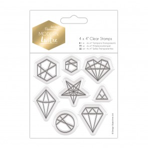 "4 x 4"" Clear Stamps - Modern Lustre - Geo Shapes"