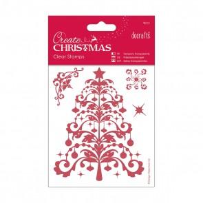 106 x 127mm Mini Clear Stamp - Christmas Tree