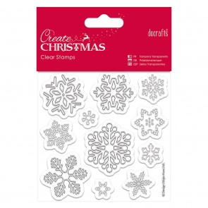 102 x 102mm Mini Clear Stamps - Snowflakes