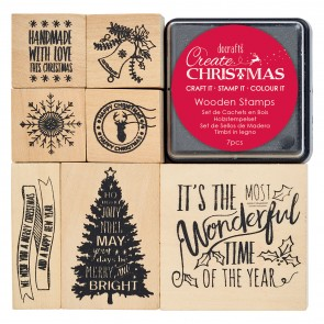 Wooden Stamps - Icons/Sentiments - Create Christmas