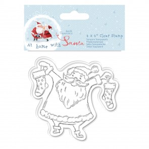 "4 x 4"" Clear Stamp - At Home with Santa - Santa"