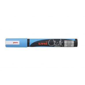 PWE-5M uni Chalk Marker Medium Bullet Tip Light Blue