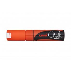 PWE-8K uni Chalk Marker Broad Chisel Tip Fluorescent Orange