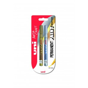 PX-21 Paint Marker Fine Bullet Tip 2pc Blister Gold/Silver