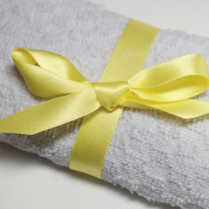 Double Face Satin Ribbon 6mm Pastel Yellow (5 Metres)