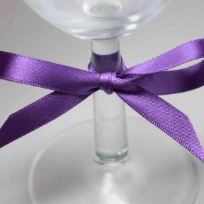 Double Face Satin Ribbon 25mm Purple (25 Metres)