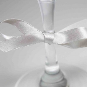 Double Face Satin Ribbon 25mm Silver (25 Metres)