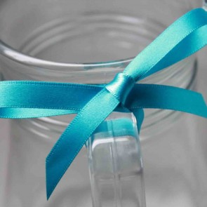 Double Face Satin Ribbon 25mm Turquoise (5 Metres)