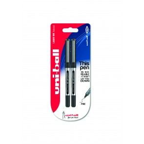 UB-150 Eye Micro 0.5mm Rollerball Pen 2pc Blister Black