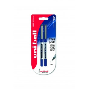 UB-150 Eye Micro 0.5mm Rollerball Pen 2pc Blister Blue