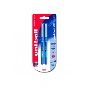 UB-157D Eye Designer 0.7mm Rollerball Pen 2pc Blister Blue