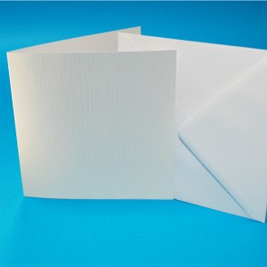 "6x6"" Linen Cards & Envelopes White (50 Pack)"