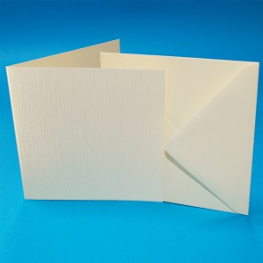 "6x6"" Linen Cards & Envelopes Ivory (50 Pack)"
