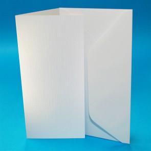 DL Linen Cards & Envelopes White (50 Pack)