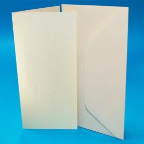 DL Linen Cards & Envelopes Ivory (50 Pack)