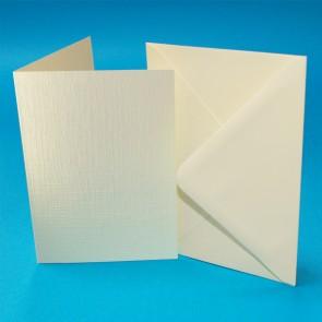 A6 Linen Cards & Envelopes Ivory (50 Pack)
