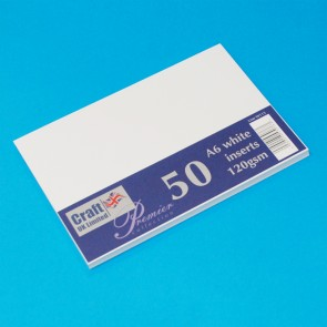A6 Inserts White (50 Pack)