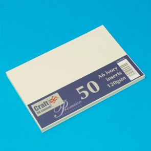 A6 Inserts Ivory (50 Pack)