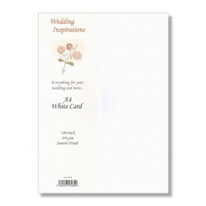 A4 Smooth Card 300gsm White (100 Pack)