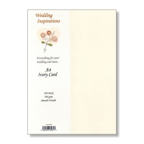 A4 Smooth Card 300gsm Ivory (100 Pack)