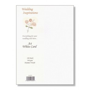 A4 Hammered Card 300gsm White (100 Pack)
