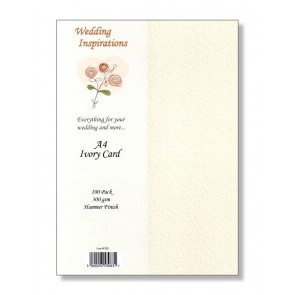 A4 Hammered Card 300gsm Ivory (100 Pack)