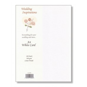 A4 Linen Card 300gsm White (100 Pack)