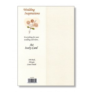 A4 Linen Card 300gsm Ivory (100 Pack)