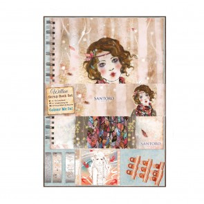 Colour Me In Scrap Book Set - Santoro