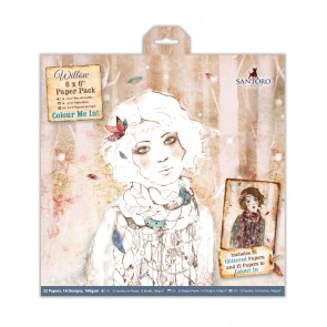 "6 x 6"" Colour Me In Paper Pack (32pk) - Santoro"