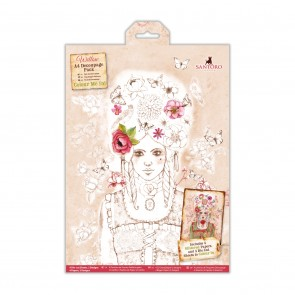 Colour Me In A4 Decoupage Pack - Santoro