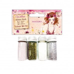 Colour Me In Glitter Pack (4pk) - Santoro