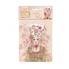 Colour Me In Rubber Stamps - Santoro - Marie-Antoinette