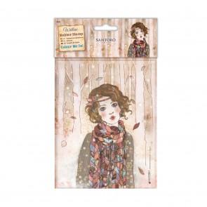 Colour Me In Rubber Stamps - Santoro - Souvenir D'Hiver