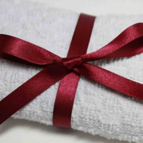 Double Face Satin Ribbon 25mm Wine (25 Metres)