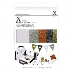 Xcut Xtra A5 Adhesive Glitter Sheets (10pcs) Metallics