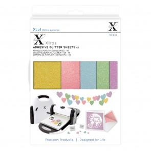 Xcut Xtra A5 Adhesive Glitter Sheets (10pcs) Pastels