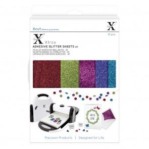 Xcut Xtra A5 Adhesive Glitter Sheets (10pcs) Darks