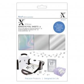 Xcut Xtras' A5 Adhesive Foil Sheets (20pcs) - Silver