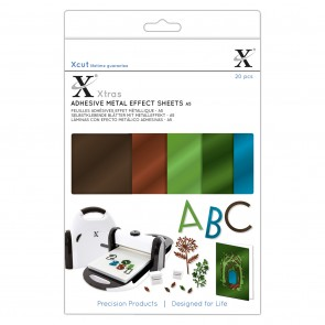 Xcut Xtras' A5 Adhesive Metal Effect Sheets (20pcs) - Naturals