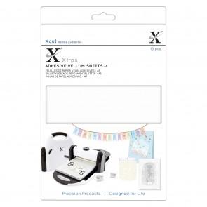 Xcut Xtras' A5 Adhesive Vellum Sheets (15pcs) - White