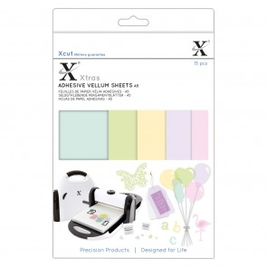 Xcut Xtras' A5 Adhesive Vellum Sheets (15pcs) - Coloured