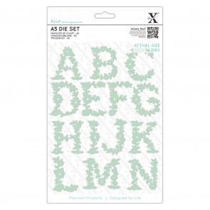 A5 Dies - Floral Alphabet A - N