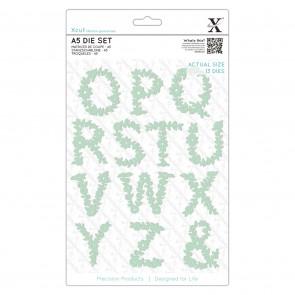 A5 Dies - Floral Alphabet O - Z