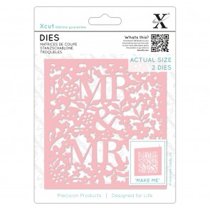 Dies (2pcs) - Mr & Mrs