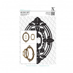 A5 Die Set (3pcs) - Ornate Frames Oval