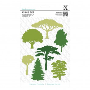 A5 Die Set (7pcs) - Woodland Trees
