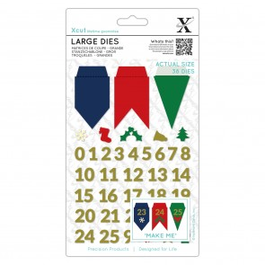 Large Dies - Advent Bunting
